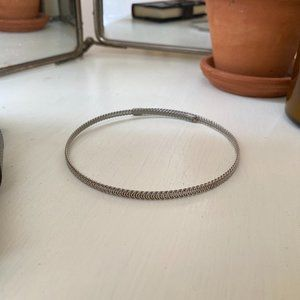 Silver Woven Chain Choker